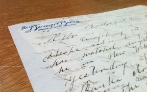 Otto Ringling's letter