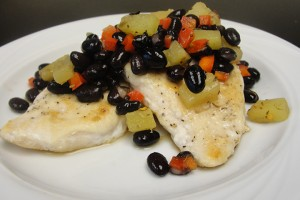Caribbean Chicken with Black Bean Salsa