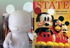 Vinylmation, before and after