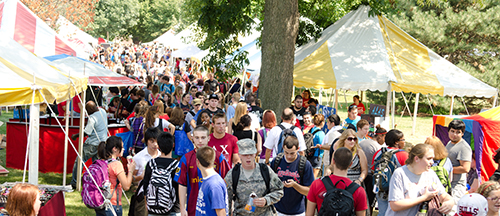 Students at Festival ISU