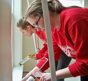 APO students caulk
