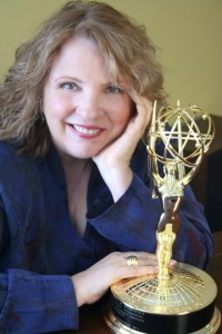Barylski and her Emmy