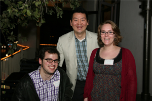 (From left to right) Michael Aumiller '10, Robert Lee, Executive Director of the Chicago Teacher Education Pipeline, and Rachel Perveiler '12. Lee brought Perveiler and Aumiller to his presentation at the annual Association of Teacher Educators Conference to help discuss the work of STEP-UP and other pipeline initiatives.