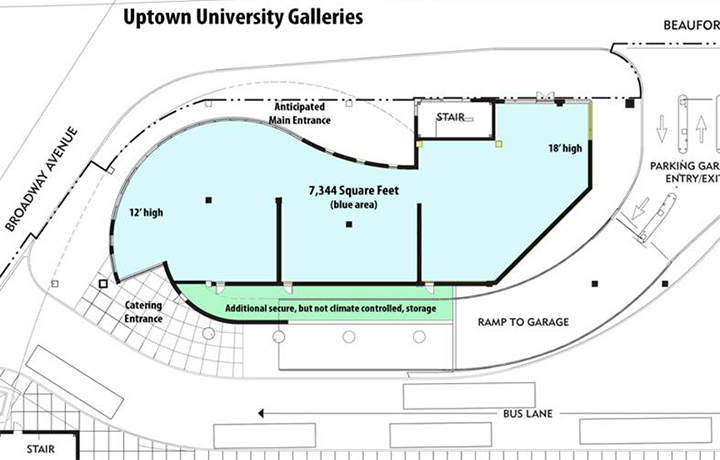 New university gallery location drawing