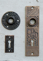 Door hardware from the DeGarmo home.