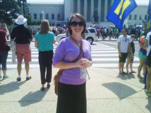 Anni Krummel outside the U.S. Supreme Court