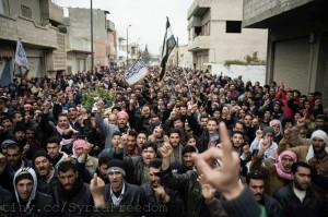 Syrians at a funeral