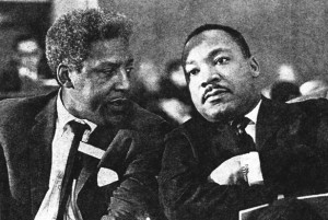 Bayard Rustin with MLK