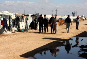 Syrian refugees in Jordan's Zaatari camp