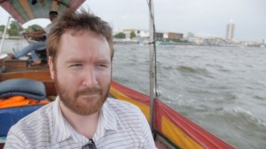 Griffin on Thai boat