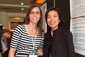 Ywadee Viriyangkura and Stephanie DeSpain at the 2013 American Association on Intellectual Disabilities in Pittsburg.