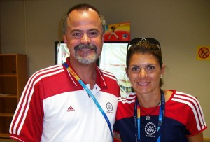 Craig with Mia Hamm