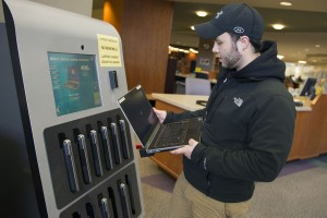 Milner's new laptop kiosk