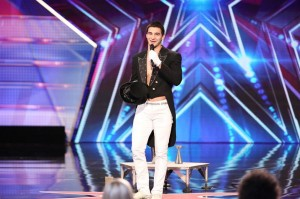 "Christian Stoinev during his ""America's Got Talent"" audition"
