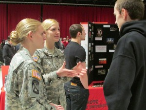 Students at Academic and Student Services Fair