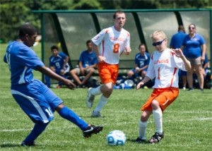 image of Mackezie Xarlson playing Unified Soccer