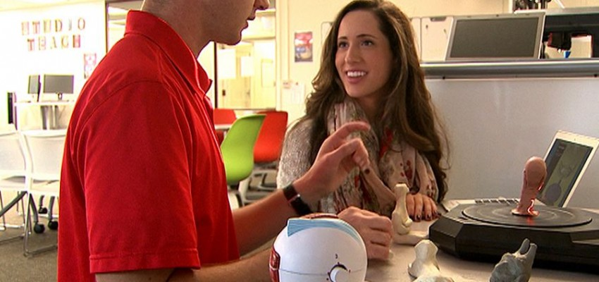 Video: Future educator inspired by classroom technology