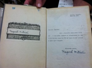 A first edition of Gone with the Wind, signed by Margaret Mitchell