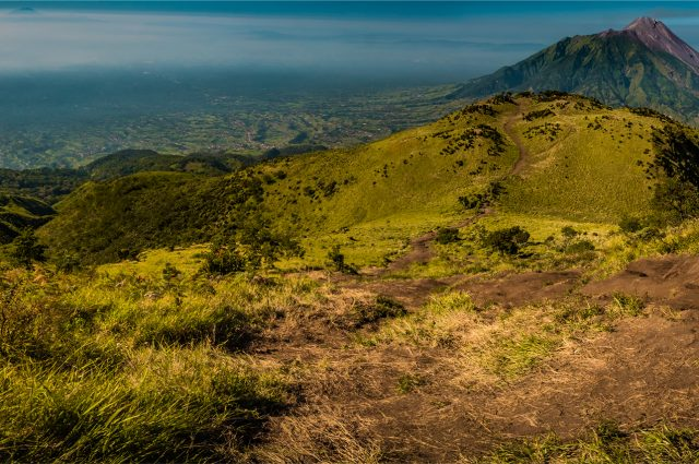 view of Mount Merbabu in Indonesia