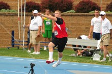 Tim Glover throws javelin