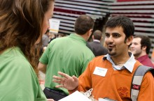 Student at Career Fair 2011