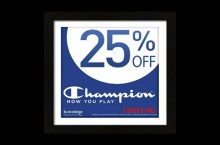 Champion gear coupon