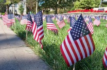Student Government Association's Sept. 11 anniversary display