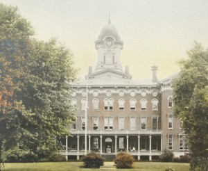 Old Main stood for nearly a century on the ISU campus