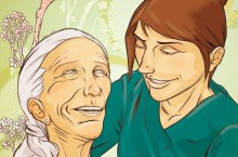 Elder care illustration