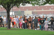 Normal Community High School students evacuate