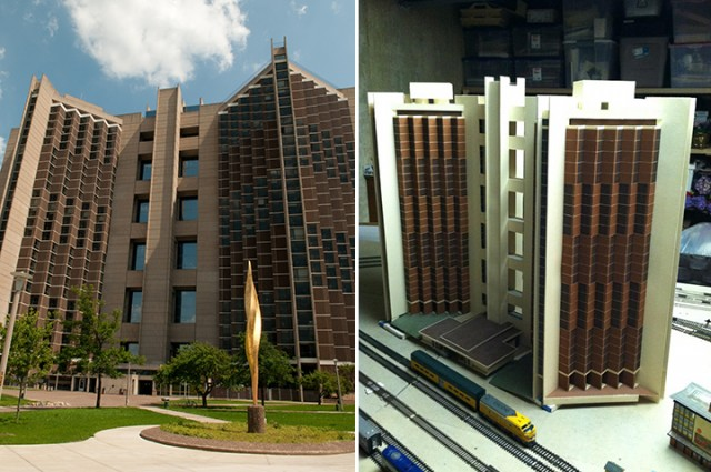 Alum's model replica is tribute to Watterson Towers