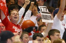 Redbird fans at Bradley game