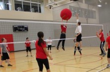 Students play Big Red Volleyball