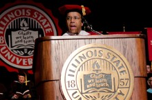 President Al Bowman speaks at Founders Day Convocation