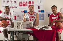Redbird players in fashion lab