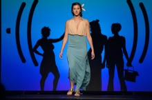 Model on runway at Apparel Merchandising and Design Association Fashion Show