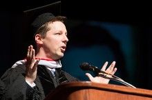 Actor Sean Hayes speaks