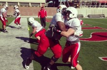 Redbird football practices