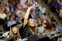 A student at the spring 2011 Commencement.