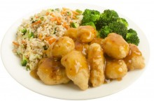 Campus Dining's orange chicken