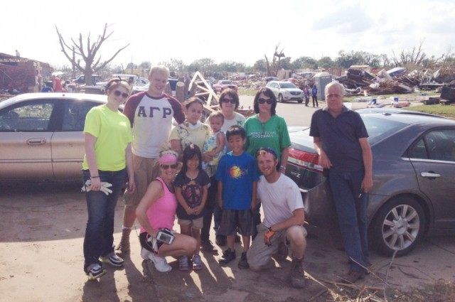 Touched by tornado's impact, students trek to Oklahoma