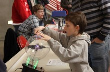 Child participates in Family Science Day