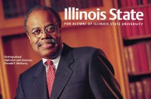 McHenry on the cover of ISU magazine
