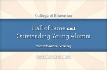 College of Education Hall of Fame Ceremony