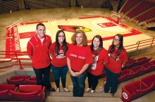 Duncans pose at Redbird Arena