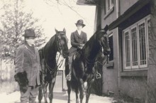 Davis and Hazle Buck Ewing with horses