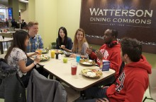 Students at Watterson Dining Commons