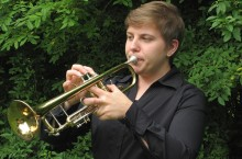 Stephanie Beatty playing the trumpet