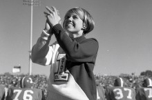 Cheerleader in 1968 on the sidelines