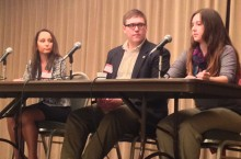 Law school students on a panel